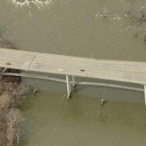 Pedestrian Bridge underneath the Robert E Lee Bridge (Birds Eye)