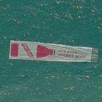 Red Stripe Beer banner towed by a plane