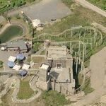 Bobsled roller coaster 'Drachenritt' at Belantis Vergnügungspark