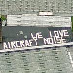 """We love aircraft noise"" (Bing Maps)"