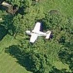 Airplane on approach to Gloucestershire Airport (Birds Eye)
