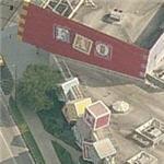 Giant building blocks at FAO Schwartz (Birds Eye)