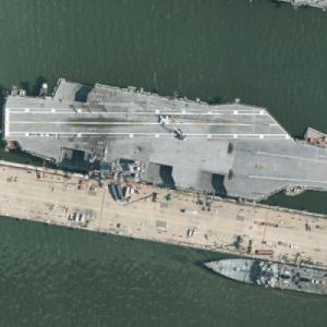 Aircraft Carrier USS Harry S. Truman (CVN-75) (Bing Maps)