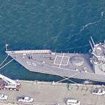 Oliver Hazard Perry class frigate USS Kauffman (FFG-59) (Birds Eye)
