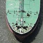 Tanker in Upper New York bay (Birds Eye)