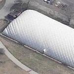 inflatable community center at Bensonhurst park (Birds Eye)