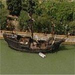 "Magellan's ship ""Nao Victoria"" replica (Birds Eye)"