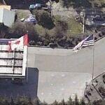 Canadian flag & US flag