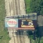 $15 Million Mega Millions Billboard (Birds Eye)