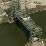 Abandoned West Third Street Lift Bridge (Birds Eye)