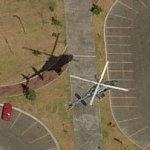 Bell 222 in flight (Birds Eye)