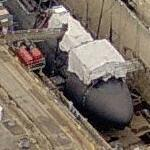 Los Angeles class submarine in drydock (Birds Eye)