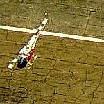 Navy Helicopter in flight over OLF Spencer