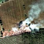 Fire in the Hertfordshire countryside (Bing Maps)