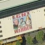 Giant beer / football ad 'Echt Werder'