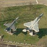 F-16 Fighting Falcon and F-15 Eagle (Birds Eye)
