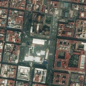 Zócalo, Mexico City (Bing Maps)