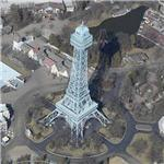 Eiffel Tower replica at Kings Island