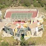 Futuristic/modern house in the Malibu hills (Birds Eye)