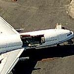 Damaged airliner