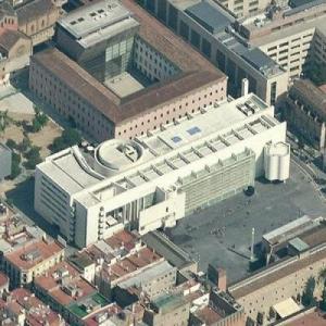 'Barcelona Museum of Contemporary Art' by Richard Meier (Birds Eye)