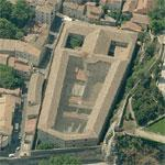 Mediaeval insane asylum and prison for sale for hotel project (Bing Maps)
