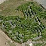 Hedge maze at Belantis Vergnügungspark (Birds Eye)