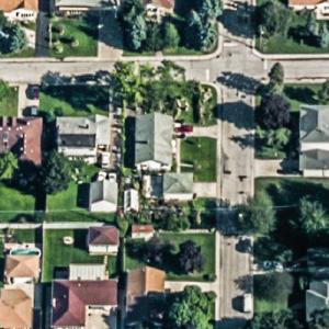 John Wayne Gacy's house (former) (Birds Eye)