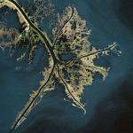 Mississippi River Delta (Bing Maps)
