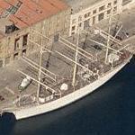3-mast sailing ship Duchesse Anne (Birds Eye)