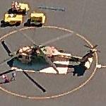 Camouflaged Blackhawk at Pratt-Whitney (Birds Eye)