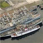 Controversial US Navy ships in England to be scrapped (Birds Eye)