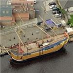 Full size replica of Captain James Cook's HM Bark Endeavour (Birds Eye)