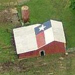 Texas Flag on a barn's roof