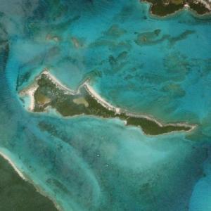 """Nicholas Cage's """"Leaf Cay"""" island (Bing Maps)"""