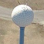 Golf Ball Water Tower (Birds Eye)