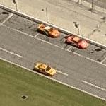Race cars at Daytona speedway