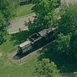 """Locomotive """"Big Mike"""" in Julia Davis Park (Birds Eye)"""