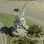 Cargo crane monument (?) (Birds Eye)