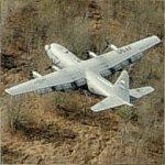 C-130 Hercules Approaching Little Rock AFB (Birds Eye)