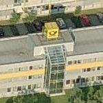 Deutsche Post Logo-Cube at Letter Sorting Centre Gera (Birds Eye)