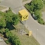 Deutsche Post Logo-Cube at Letter Sorting Centre Lübeck (Birds Eye)
