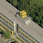 Deutsche Post Logo-Cube at Letter Sorting Centre Oldenburg
