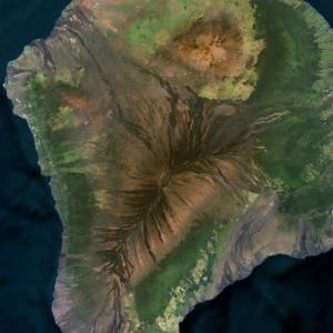 Mauna Loa volcano lava flow (Bing Maps)