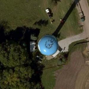 Clouds Water Tower (Bing Maps)