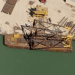 Giant structure on a barge (Birds Eye)