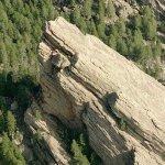 """Flatiron"" rock formation (Birds Eye)"