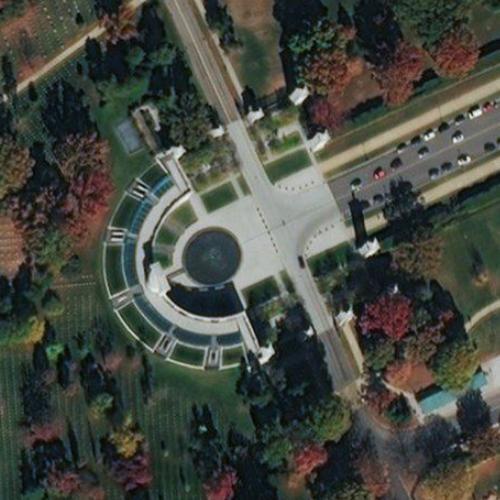 Entrance to Arlington National Cemetery (Birds Eye)