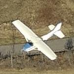 Cessna in flight (Birds Eye)