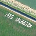 Lake Arlington Sign (Bing Maps)